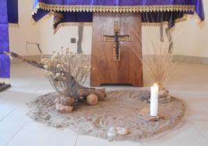 Dans la chapelle du noviciat...