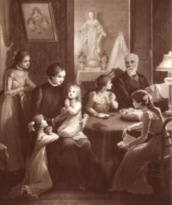 Avec leur cinq filles
