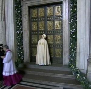 Ouverture de la porte sainte, le 8 décembre 2015