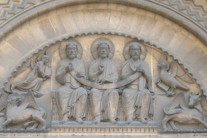 Trinité – Tympan de l'Abbaye aux Dames (Caen)